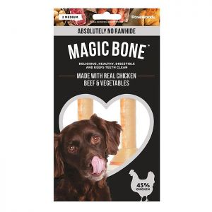 Rosewood Magic Bone Medium Dog Treats – 2 Pieces