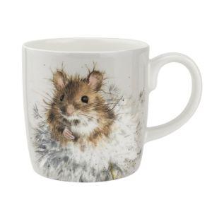 Royal Worcester Wrendale Mug – Mouse with Dandelion