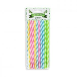RSW Reusable Plastic Straws - Pack of 20