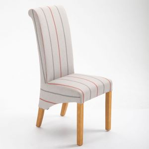 Ruby Dining Chair - Cream Stripe