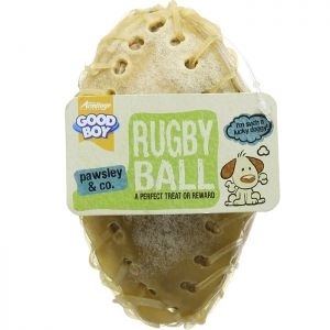 Good Boy Rugby Ball Treat - 10 Pack