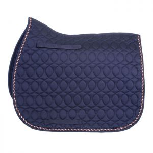 HySPEED Deluxe Saddle Pad with Cord Binding - Navy