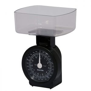 Salter Compact Mechanical Kitchen Scale - Black