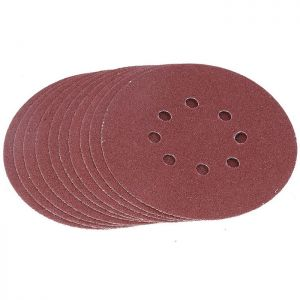 Tactix Pack of 10 Sanding Discs with Holes - 125mm