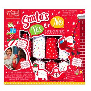 Santa's Yes Or No Game Christmas Crackers – Pack of 6