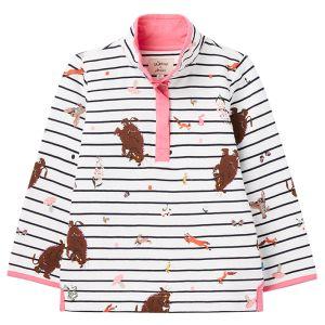 Joules Children's Saunton Half Zip Sweatshirt – Gruffalo White Stripe