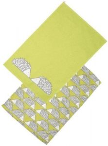 Scion Living Spike The Hedgehog Set Of 2 Tea Towels - Green