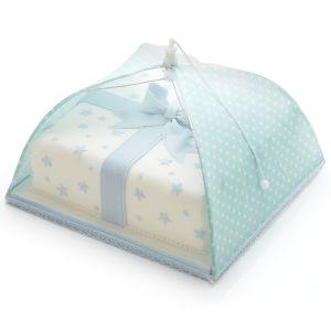 Sweetly Does It Umbrella Cake Cover - Green Polka Dot, 31cm