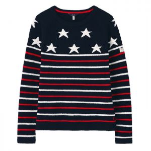 Joules Women's Seaport Knitted Jumper - Navy Star
