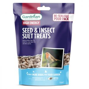 Gardman Seed and Insect Suet Treats - 550g