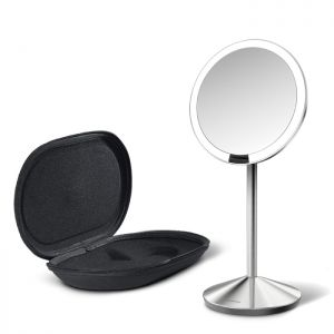 Simplehuman Stainless Steel Sensor Mirror with Travel Case – 12cm