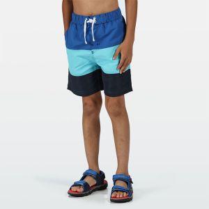 Regatta Children's Shaul III Swim Shorts - Washed Azure Nautical Blue
