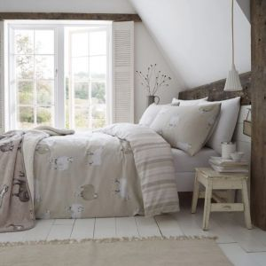 Catherine Lansfield Brushed Cotton Sheep Duvet Set