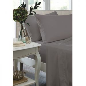 Catherine Lansfield Fitted Sheet, Grey