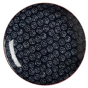 Maxwell & Williams Boho Plate, 20cm - Shibori Navy