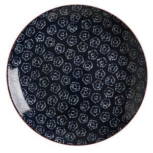 Maxwell & Williams Boho Plate, 27cm - Shibori Navy