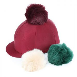Shires Switch It Pom Pom Hat Cover - Maroon