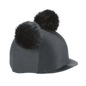Shires Aubrion Double Pom Pom Hat Cover - Black