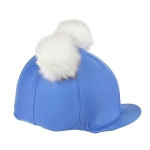 Shires Aubrion Double Pom Pom Hat Cover – Blue & White