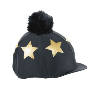 Shires Aubrion Glitter Star Hat Cover - Black