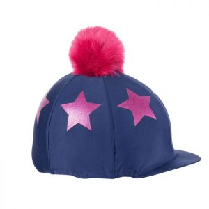 Shires Aubrion Glitter Star Hat Cover - Navy