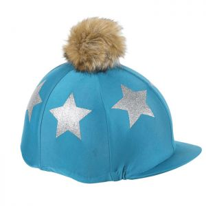 Shires Aubrion Glitter Star Hat Cover - Teal