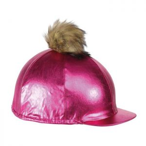 Shires Metallic Hat Cover – Pink