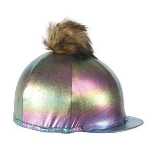 Shires Metallic Hat Cover – Rainbow
