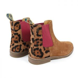 Shires Moretta Women's Leopard Suede Chelsea Boots – Tan
