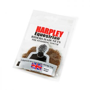 Shires Pack of 2 Harpley Hair Nets – Medium Brown