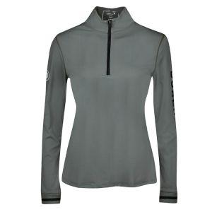 Dublin Women's Shirley Long Sleeve ¼ Zip Airflow Top – Gunmetal