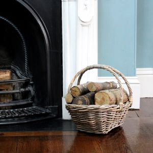 Shopper Style Wicker Log Basket