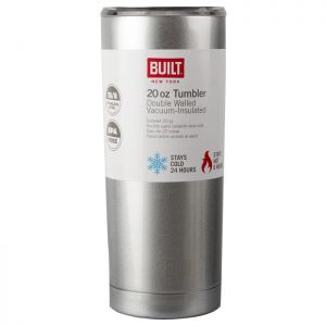 Built Double Walled Stainless-Steel Travel Mug, 565ml – Silver
