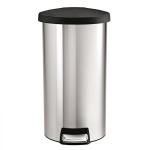 Simplehuman Round Pedal Bin, 30 Litre - Brushed Stainless Steel