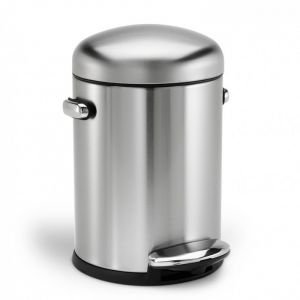 Simplehuman Retro Pedal Bin, 4.5 Litre - Brushed Stainless Steel