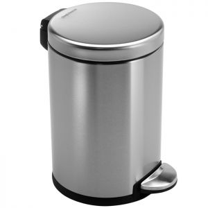 Simplehuman Round Pedal Bin, 3 Litre - Brushed Stainless Steel