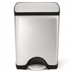 Simplehuman Rectangular Pedal Bin, 50 Litre - Brushed Stainless Steel