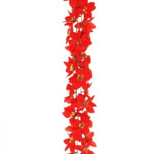 Sincere Poinsettia Garland - 1.8m