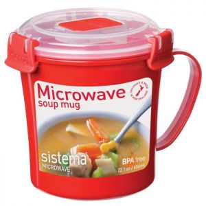 Sistema Microwave Soup Mug - Red