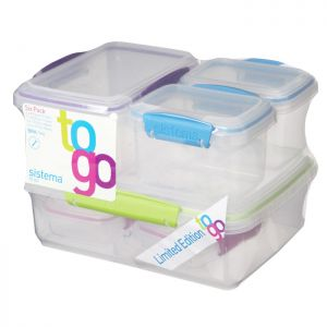 Sistema To Go Food Containers - 6 Pack