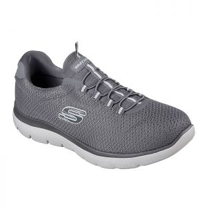 Skechers Men's Summits Slip-on Trainers – Charcoal Grey