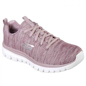Skechers Women's 12614 Graceful Twisted Fortune Trainers – Mauve