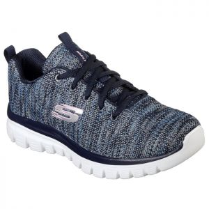 Skechers Women's 12614 Graceful Twisted Fortune Trainers – Navy Blue