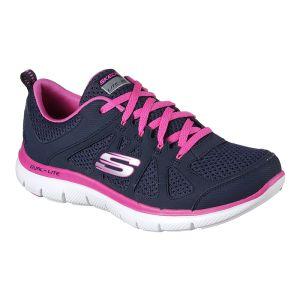 Skechers Women's Flex Appeal 2.0 Simplistic Trainers – Navy Pink