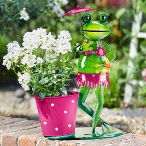 Brolly Frog Plant Pot
