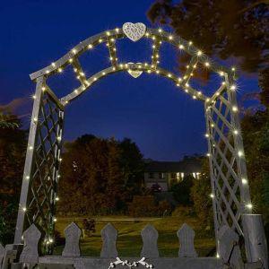 Smart Solar 200 LED Firefly String Lights – Warm White