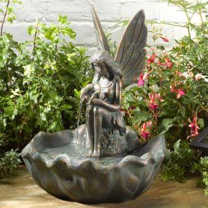 Smart Solar Fairy Leaf Water Fountain