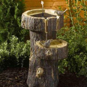 Smart Solar Tree Trunk Fountain