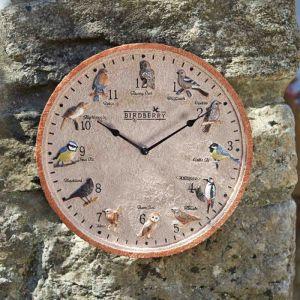 Smart Garden Outside In Birdberry Wall Clock