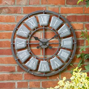 Smart Garden Outside In Lincoln Wall Clock, 32cm – Grey